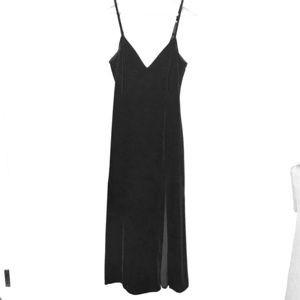 Sexy Victoria's Secret Black Velvet Slip Dress